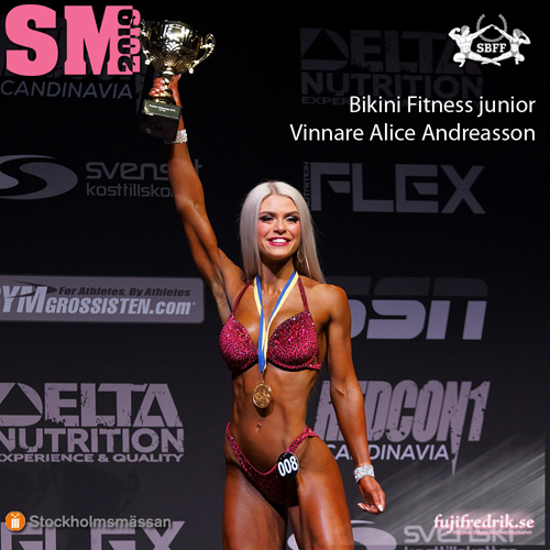 Evelina Persson, vinnare Wellness Fitness Junior